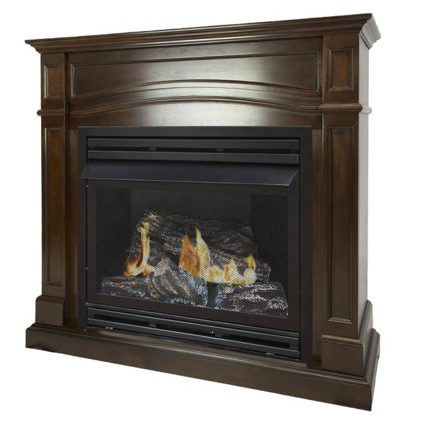 "Pleasant Hearth 32K BTU 46"" Natural Gas Cherry Vent Free Fireplace"