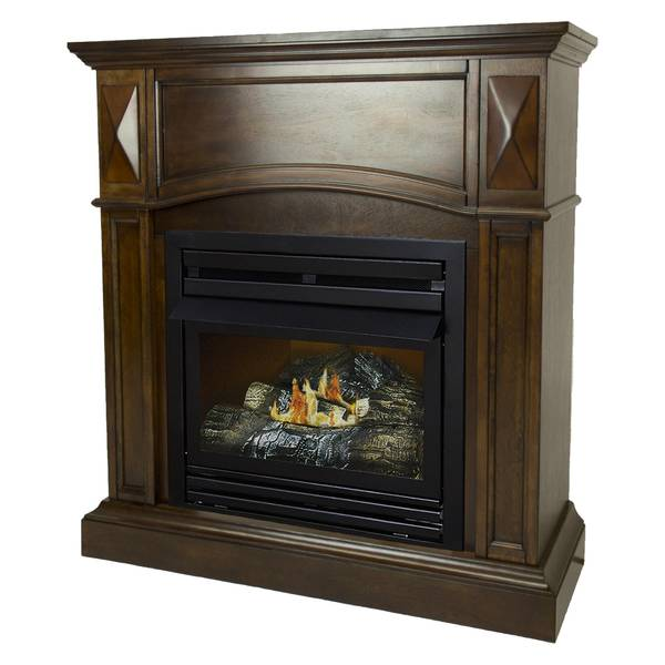 "Pleasant Hearth 20K BTU 36"" Natural Gas Cherry Vent Free Fireplace"