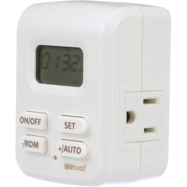 Woods Indoor Plug-In Astronomical Timer, 2 Grounded Outlets