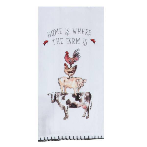 Kay Dee Designs Country Stacked Animals Flour Sack Towel