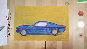 STEP #88 (Ford Mustang GT Blue-Yellow)
