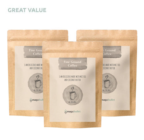 3 x Organic Fine Ground  Coffee