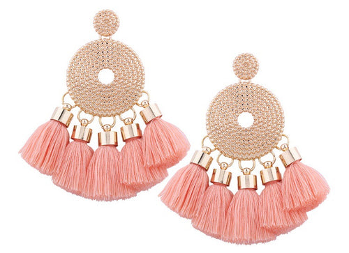 Glitz Me Tassel Earrings - Leesie