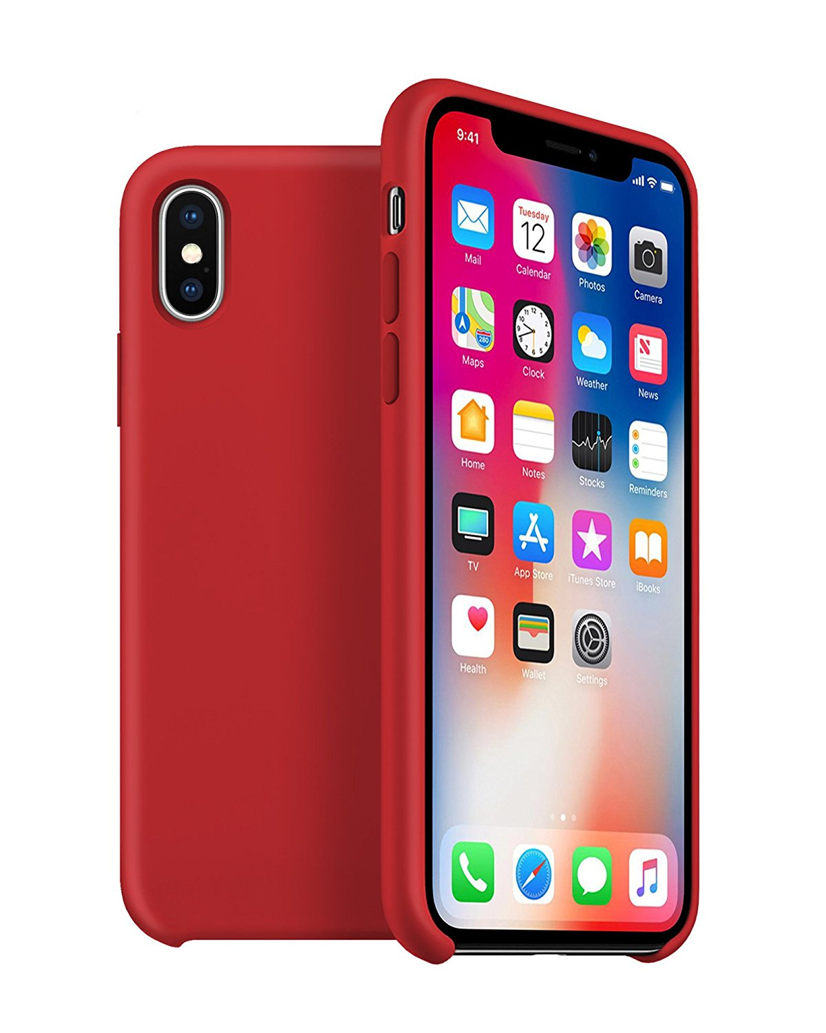Arrive Liquid Series Soft Silicone Protective Case For iPhone X