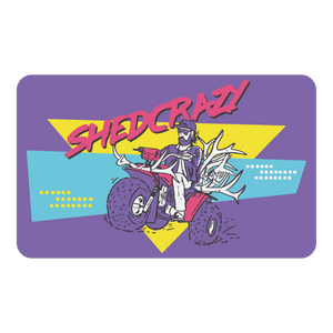 The Three-Wheeling Sticker - Purple
