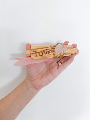 Palo Santo Love Stack - Rose Quartz
