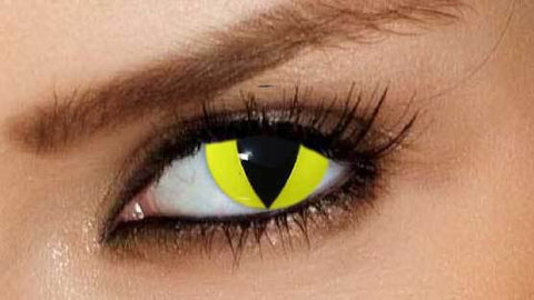 Halloween yellow cat eye