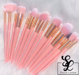 15 pc Pink brush set 💖