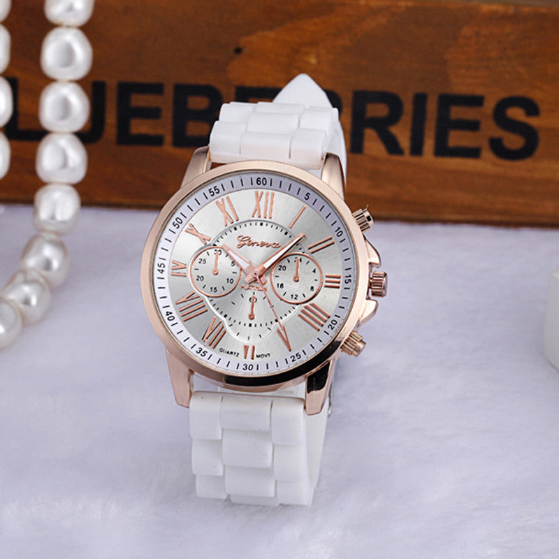 2017 casual Geneva Women Watches Roman Numerals Silicone Jelly Gel Quartz Analog Wrist Watch Men Watch Reloj Mujer MEW