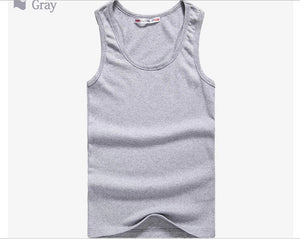 Men Tshirts Summer Cotton Slim Fit Men Tank Tops Clothing Bodybuilding Undershirt Golds Fitness tops tees 22151
