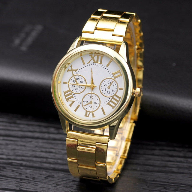 New Famous brand Fashion Casual Women Watches Roman Numerals Quartz watch women stainless steel Dress watches Relogio feminino