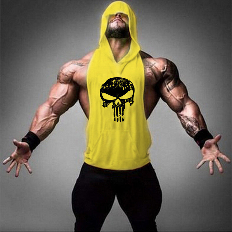 Sukll Brand Hoodie Clothing Fitness Tank Top Men Stringer Golds Bodybuilding Muscle Shirt Workout Vest gyms Undershirt Plus Size