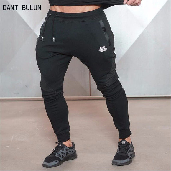 DANT BULUN Halloween Gold Medal  Fitness pants stretch cotton mens fitness pants pants body engineers Jogger Fitness