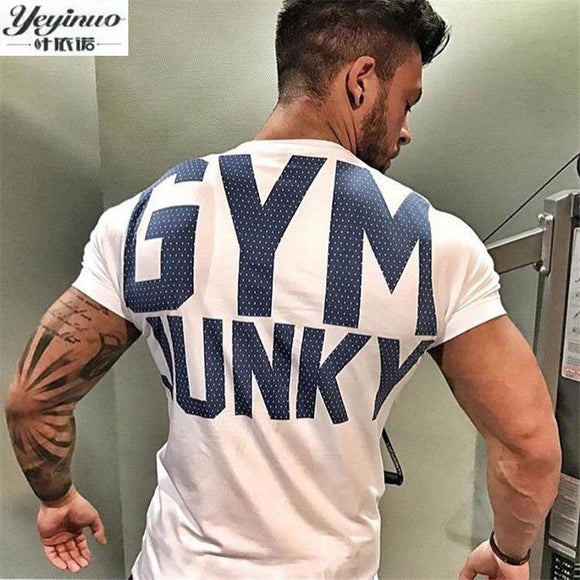 YEYINUO Brand Mens t shirt Summer Crossfit Fitness Shirts for men Fashion Bodybuilding Short Sleeve clothing cotton Tees & Tops