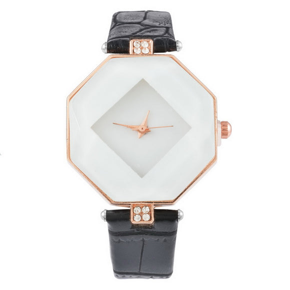 FUNIQUE Rhombus Woman Dress Fashion Casual Watches Crystal Quartz Watch Clock Ladies Female Wrist Watches Women Montre Femme