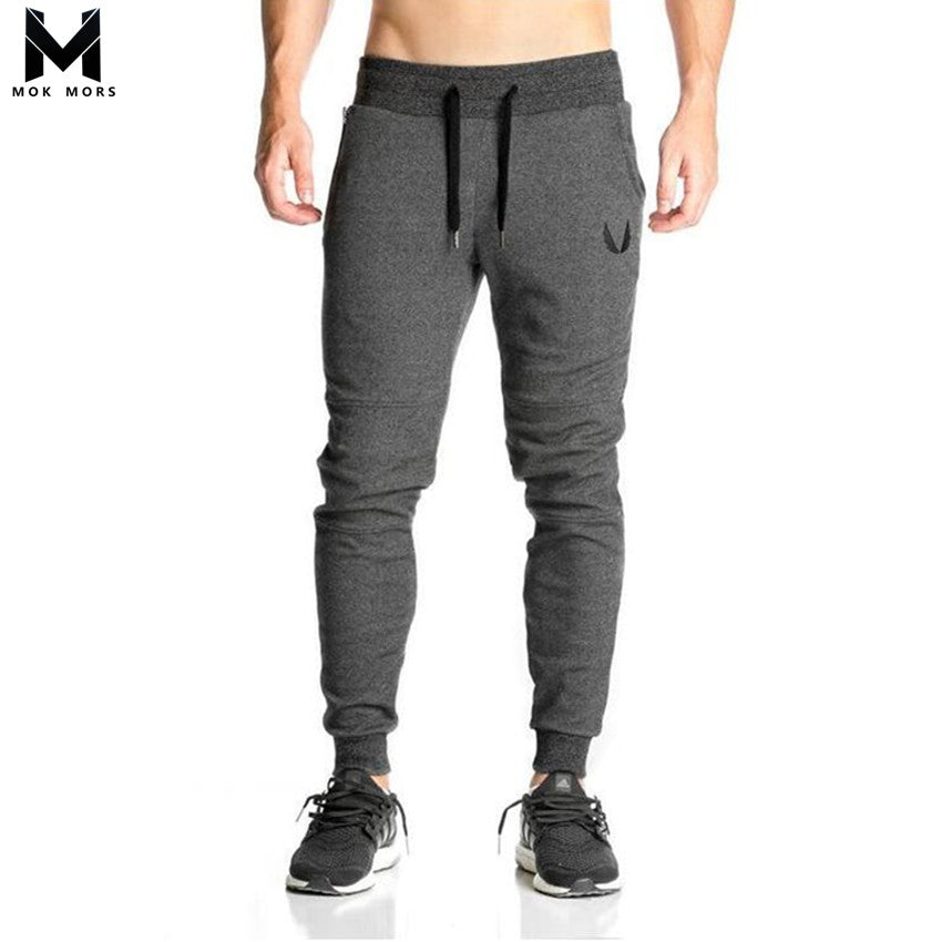 Cotton Men full sportswear Pants Casual Elastic cotton Mens Fitness Workout Pants skinny Sweatpants Trousers Jogger Pants