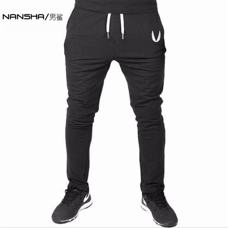 NANSHA Men Gyms Pants Casual Elastic cotton Mens Fitness Workout Pants skinny,Sweatpants Trousers Jogger Pants