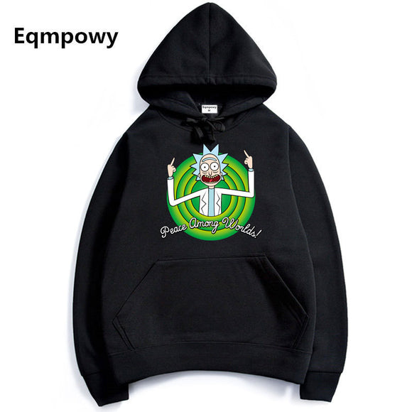 Autumn hot anime sweatshirt men blood youth Cool Rick Morty Fashion brand clothing hip hop fitness men's hoodies funny