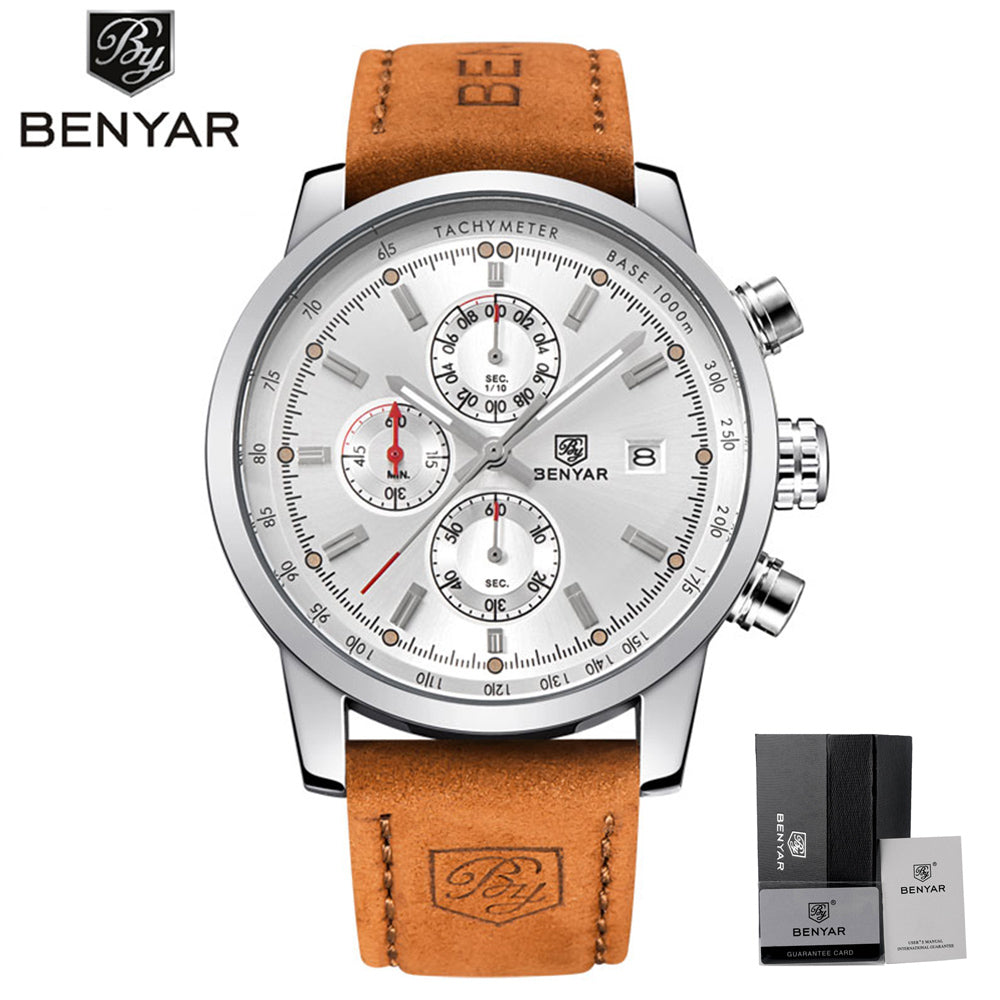 Brand Luxury BENYAR Sport Watch Men Waterproof Date Display Relogio Masculino Male Clock Man's Outdoor Stops Wristwatches Gift