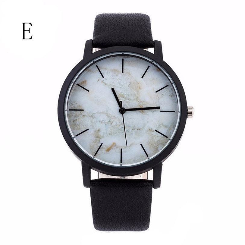 Men Luxury Stainless Steel Quartz Military Sport Leather Band Dial Wrist Watch The popular ladies' watch of 2017 Dropshipping G1
