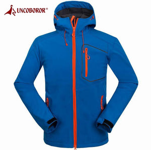 UNCO&BOROR Hiking Softshell Jacket Men's Waterproof Windproof Outdoor Sports Thermal Camping Climbing Cycling Skiing Coats