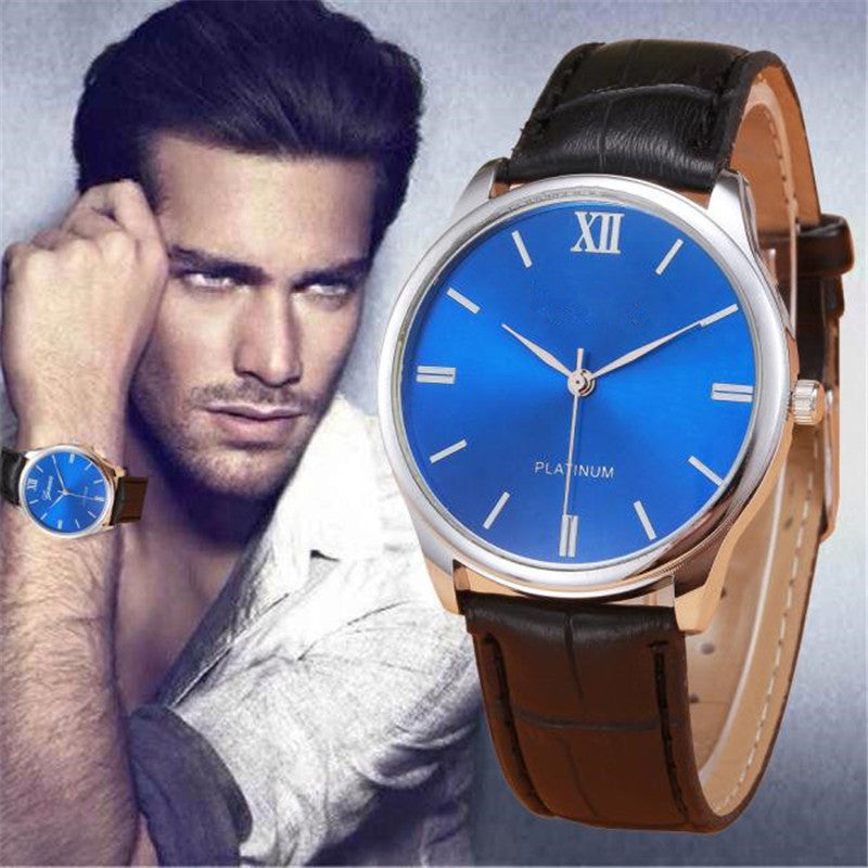 Relojes hombre 2017 Fashion Mens Watch Male Clock Roman Business Leather Band Quartz Watch Hodinky saat Relogio Masculino
