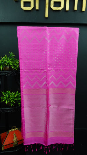 Pink colour soft silk kanchipuram saree | AJ375