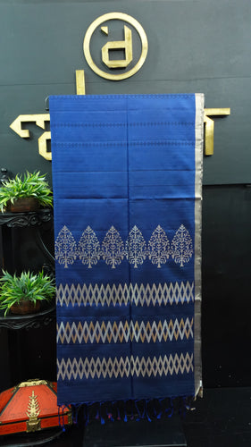 Navy blue color handloom soft silk saree | AJ280