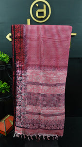 Maroon and pink color combination Bhagalpuri organza saree | SF477