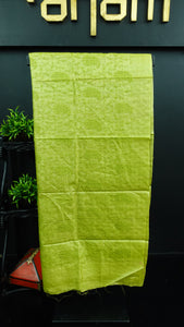 Pista green colour desi tussar saree with computerized embroidery | ACT190