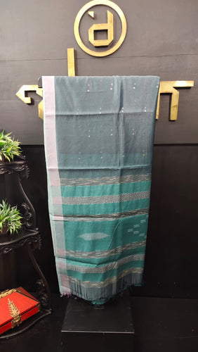 Grey color synthetic organza saree with sequence work | PF485