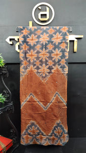 Brown and grey color combination tie and dye kota saree | SF201