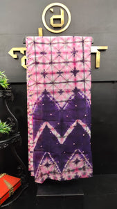 Pink and purple color combination tie and dye kota saree | SF207