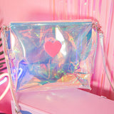 Glass Candy Holo Heart Shoulder Bag