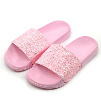 Girl Talk Glitter Slides