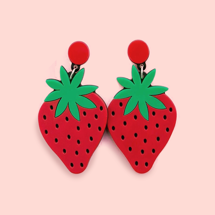 Berry Fresh Acrylic Earrings