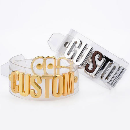Custom Text Clear Choker