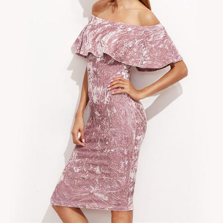 Party Favor Crushed Velvet Dress