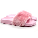 Girl Talk Faux Fur Slides