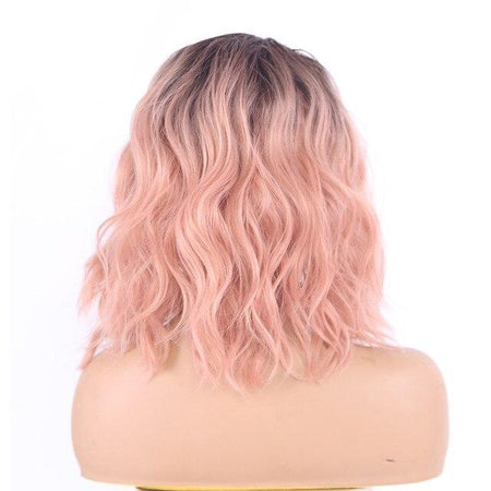 Cotton Candy Pink Short Lace Front Wig