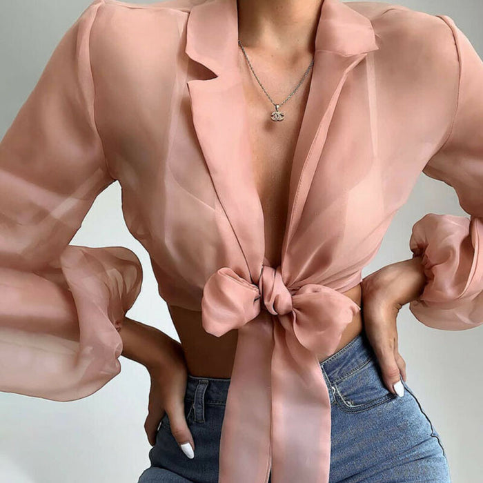 Pay to Play Bow Tie Blouse