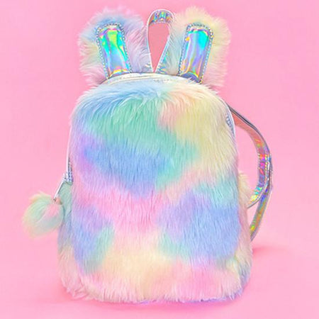Bunny Babe Rainbow Plush Backpack