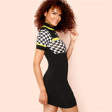 Rad Racer Checked Dress