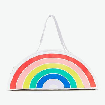 Liza Rainbow Canvas Moon Bag