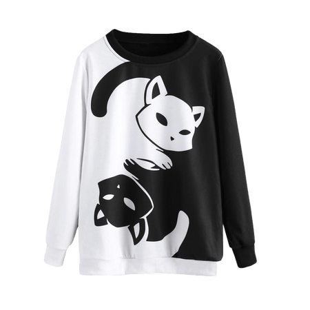 Dark Matter Yin Yang Cat Sweater