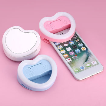 Selfie Love Heart Shaped LED Ring Light