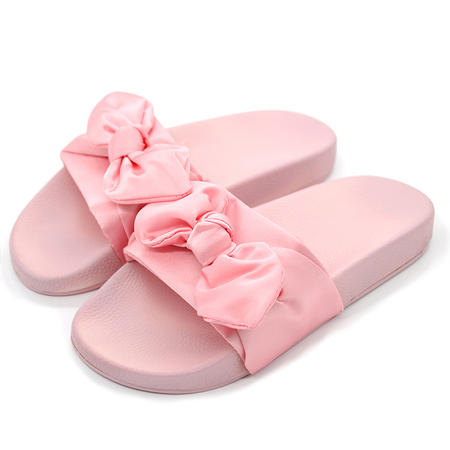 Girl Talk Satin Slides