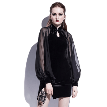 Nightcall Velour Mini Dress