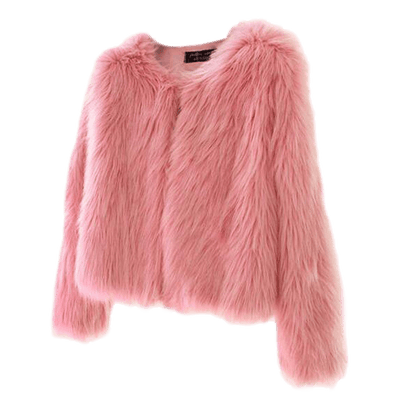 Strutter Solid Faux Fur Jacket