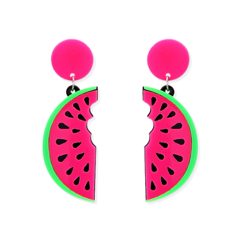 Homeslice Watermelon Earrings